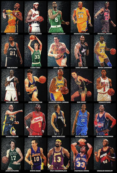 Decorative Digital Art - Nba Legends by Zapista Zapista