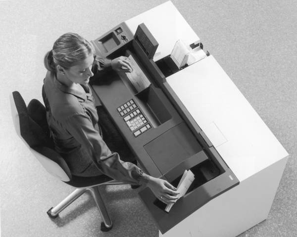 Businesswoman Photograph - Ncr Machine by Archive Photos