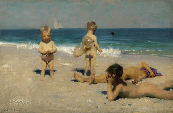 Wall Art - Painting - Neapolitan Children Bathing, 1879 by John Singer Sargent