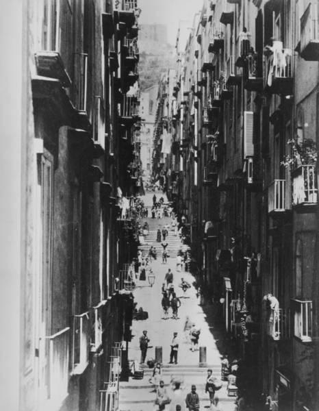 1889 Photograph - Neapolitan Street Scene by American Stock Archive