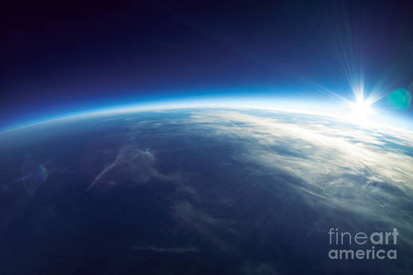 Atmosphere Wall Art - Photograph - Near Space Photography - 20km Above by Im photo