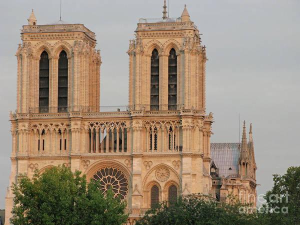 Photograph - Near Sundown At Notre Dame by Ann Horn