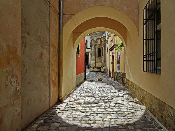 Wall Art - Photograph - Near The Armenian Cathedral, Lviv, Ukraine by Lyuba Filatova