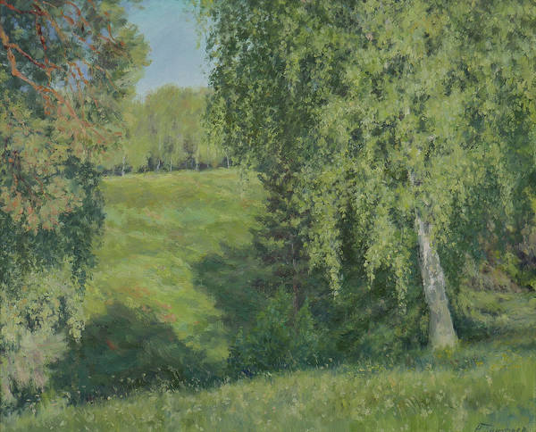 Russian Impressionism Wall Art - Painting - Near The Forest Ravine by Nikolay Dmitriev