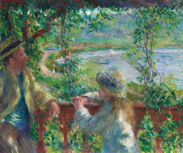 Painting - Near The Lake by Auguste Renoir
