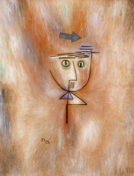 Wall Art - Painting - Nearly Hit by Paul Klee