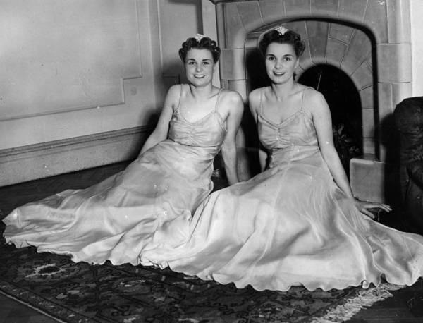 Evening Wear Photograph - Neath Twins by Parker