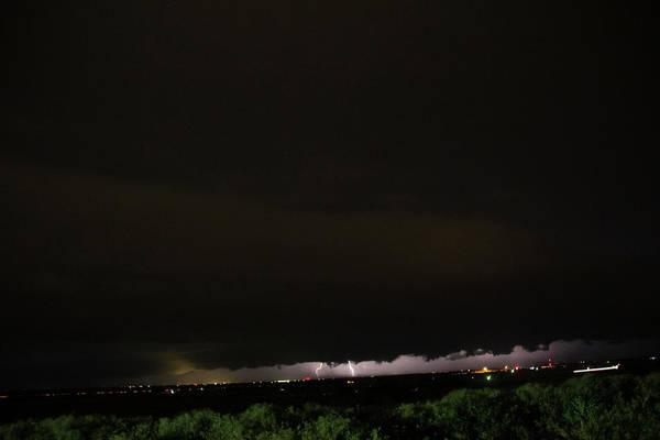 Photograph - Nebraska Night Shelf Cloud 001 by Dale Kaminski