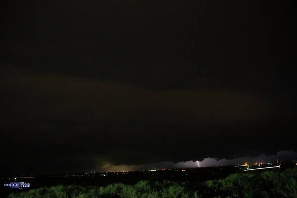 Photograph - Nebraska Night Shelf Cloud 002 by Dale Kaminski