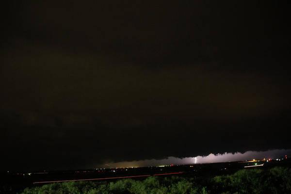 Photograph - Nebraska Night Shelf Cloud 003 by Dale Kaminski