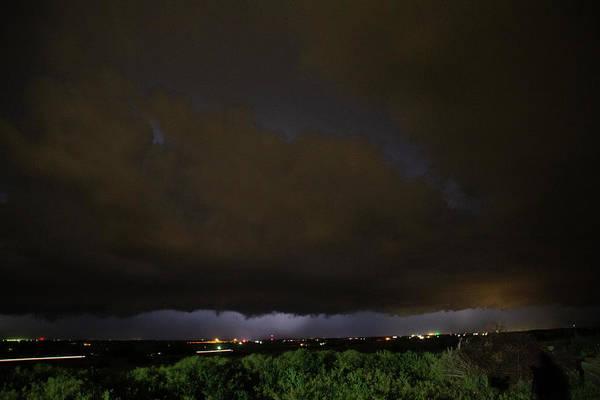 Photograph - Nebraska Night Shelf Cloud 004 by Dale Kaminski