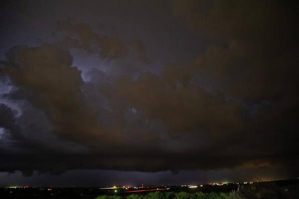 Photograph - Nebraska Night Shelf Cloud 007 by Dale Kaminski
