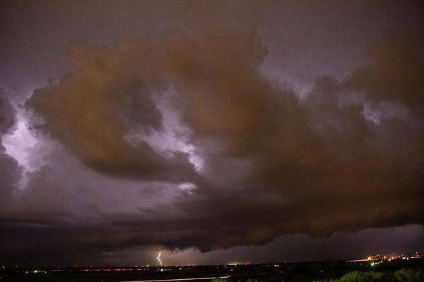 Photograph - Nebraska Night Shelf Cloud 011 by Dale Kaminski