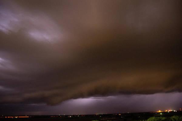 Photograph - Nebraska Night Shelf Cloud 021 by Dale Kaminski