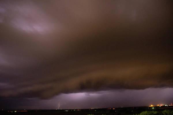 Photograph - Nebraska Night Shelf Cloud 022 by Dale Kaminski