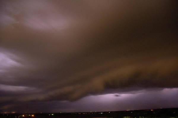 Photograph - Nebraska Night Shelf Cloud 023 by Dale Kaminski