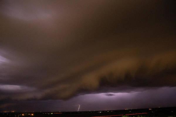 Photograph - Nebraska Night Shelf Cloud 024 by Dale Kaminski