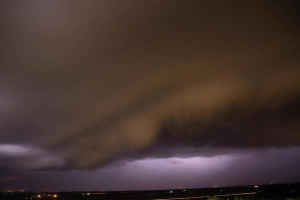 Photograph - Nebraska Night Shelf Cloud 025 by Dale Kaminski