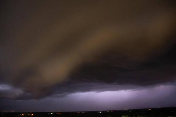 Photograph - Nebraska Night Shelf Cloud 027 by Dale Kaminski