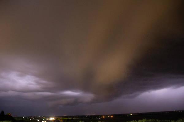 Photograph - Nebraska Night Shelf Cloud 028 by Dale Kaminski
