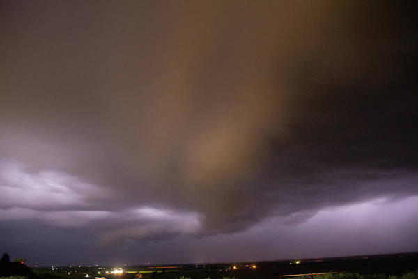 Photograph - Nebraska Night Shelf Cloud 029 by Dale Kaminski