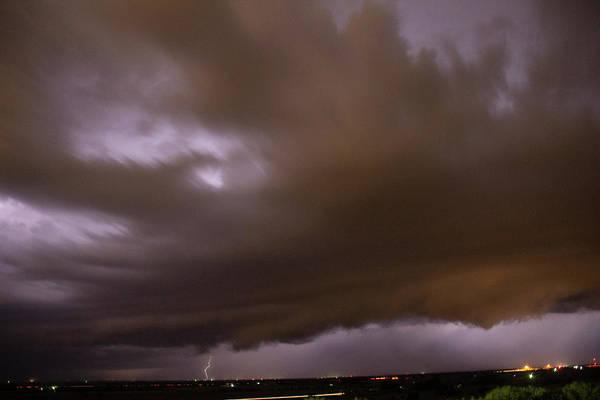 Photograph - Nebraska Night Shelf Cloud 08 by Dale Kaminski