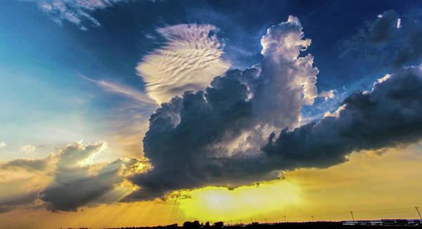 Photograph - Nebraska Sunset Thunderheads 012 by NebraskaSC