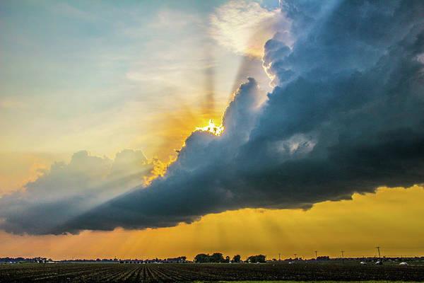 Photograph - Nebraska Sunset Thunderheads 021 by NebraskaSC