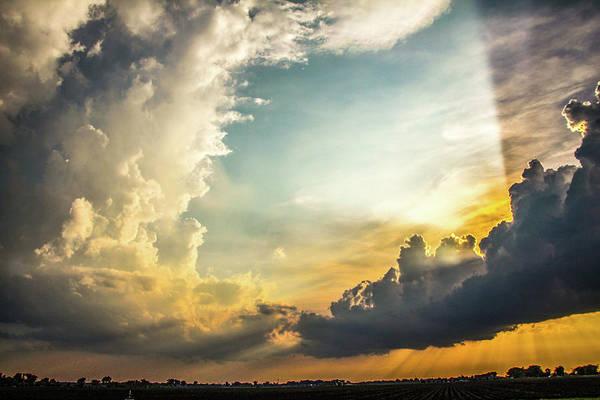 Photograph - Nebraska Sunset Thunderheads 026 by NebraskaSC