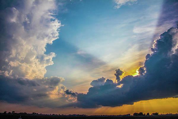 Photograph - Nebraska Sunset Thunderheads 027 by NebraskaSC