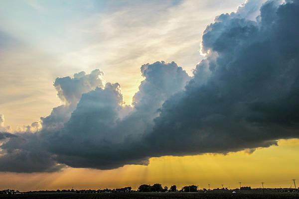 Photograph - Nebraska Sunset Thunderheads 034 by NebraskaSC
