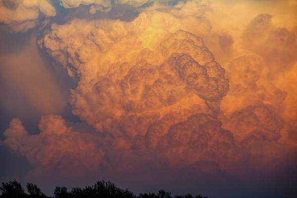 Photograph - Nebraska Sunset Thunderheads 059 by NebraskaSC