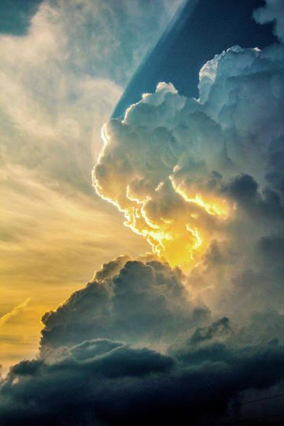Photograph - Nebraska Sunset Thunderheads 075 by NebraskaSC