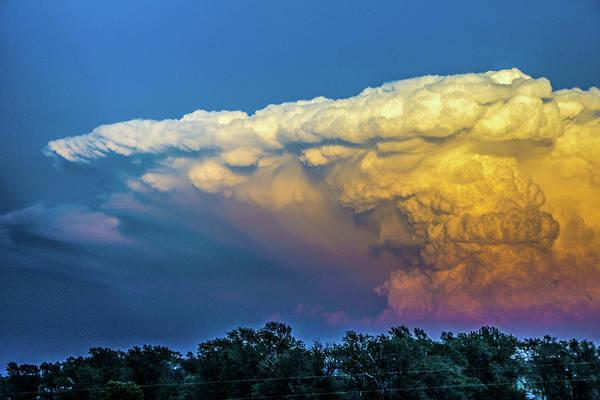 Photograph - Nebraska Sunset Thunderheads 077 by NebraskaSC