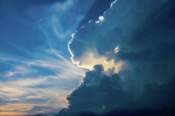 Photograph - Nebraska Sunset Thunderheads 081 by NebraskaSC