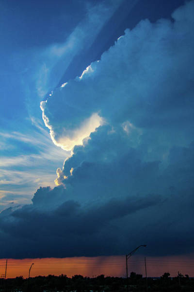 Photograph - Nebraska Sunset Thunderheads 083 by NebraskaSC