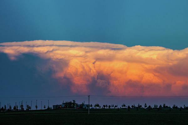 Photograph - Nebraska Sunset Thunderheads 090 by NebraskaSC