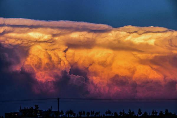 Photograph - Nebraska Sunset Thunderheads 091 by NebraskaSC