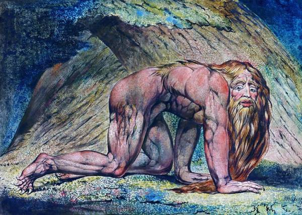 Wall Art - Painting - Nebuchadnezzar - Digital Remastered Edition by William Blake