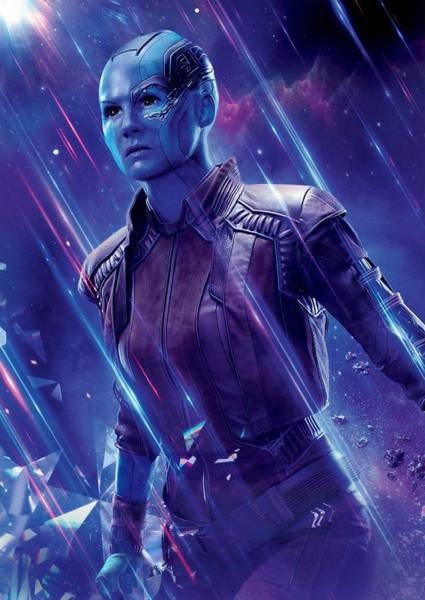 Wall Art - Digital Art - Nebula Avengers Endgame by Geek N Rock
