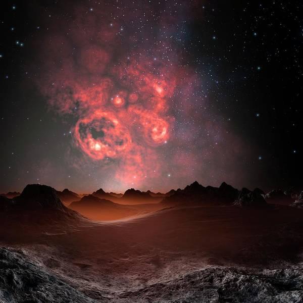 Square Digital Art - Nebula Seen From An Alien Planet by Mehau Kulyk