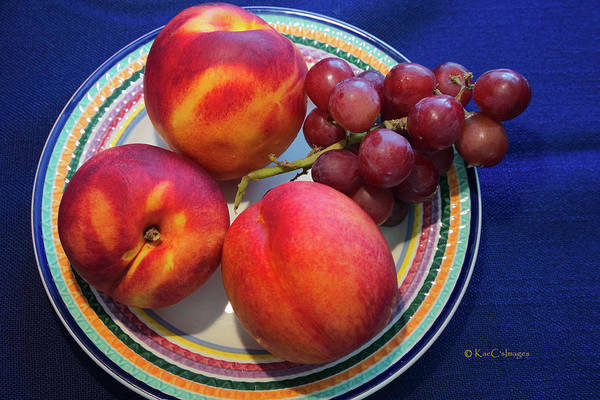 Photograph - Nectarines And Grapes by Kae Cheatham