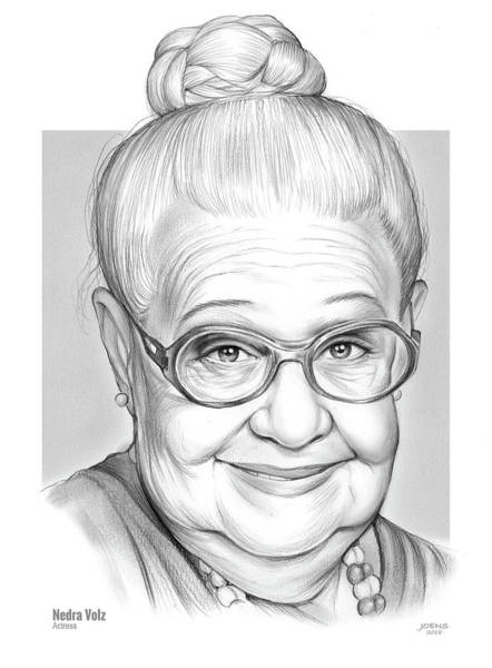 Actress Drawing - Nedra Volz by Greg Joens