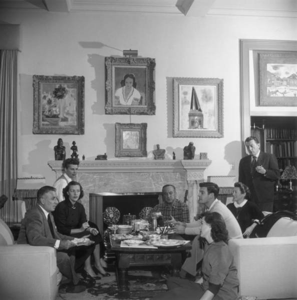 Social Living Wall Art - Photograph - Negulescos Party by Slim Aarons