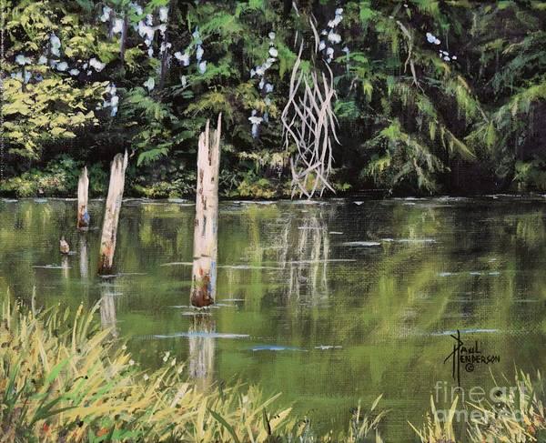 Cannon Beach Painting - Nehalem River Edge by Paul Henderson