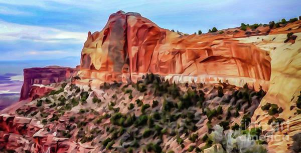 Neighboring Mesa Arch - Photopainting Art Print by Bob Lentz