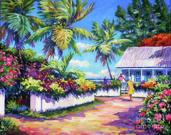 South Beach Painting - Neighbours by John Clark