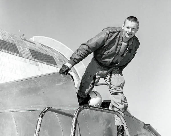 Wall Art - Photograph - Neil Armstrong In Nasa Ames' Bell X-14 by Nasa