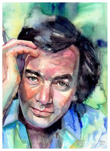 Rosie Wall Art - Painting - Neil Diamond Portrait I by Suzann Sines