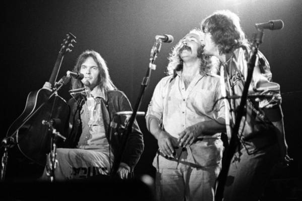 Neil Young, David Crosby, Graham Nash Art Print